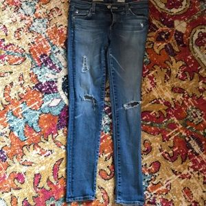 AG cropped super skinnies